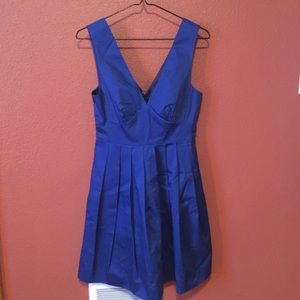 J Crew Navy Blue V-Neck A-like Dress Size 0